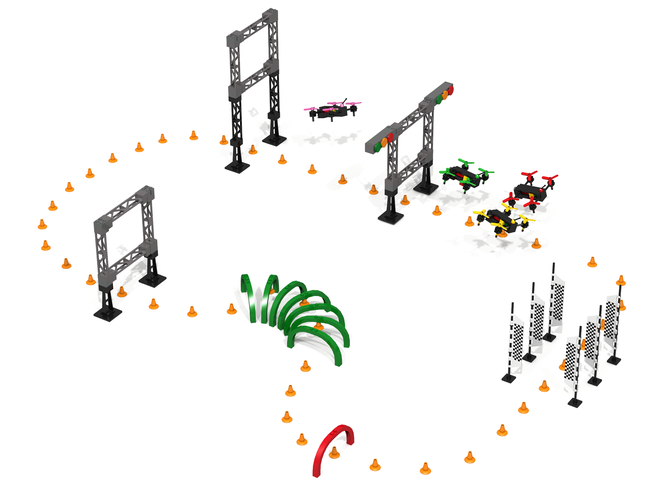You have to see this LEGO drone racing circuit