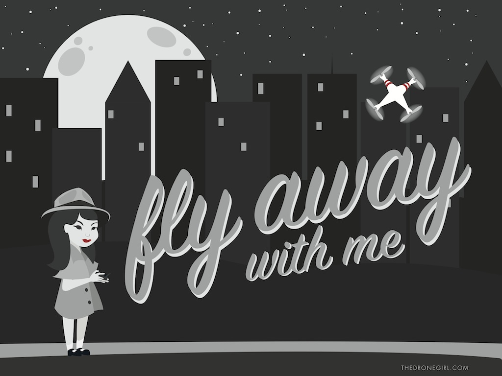 Drone Girl Art Series: Fly Away With Me