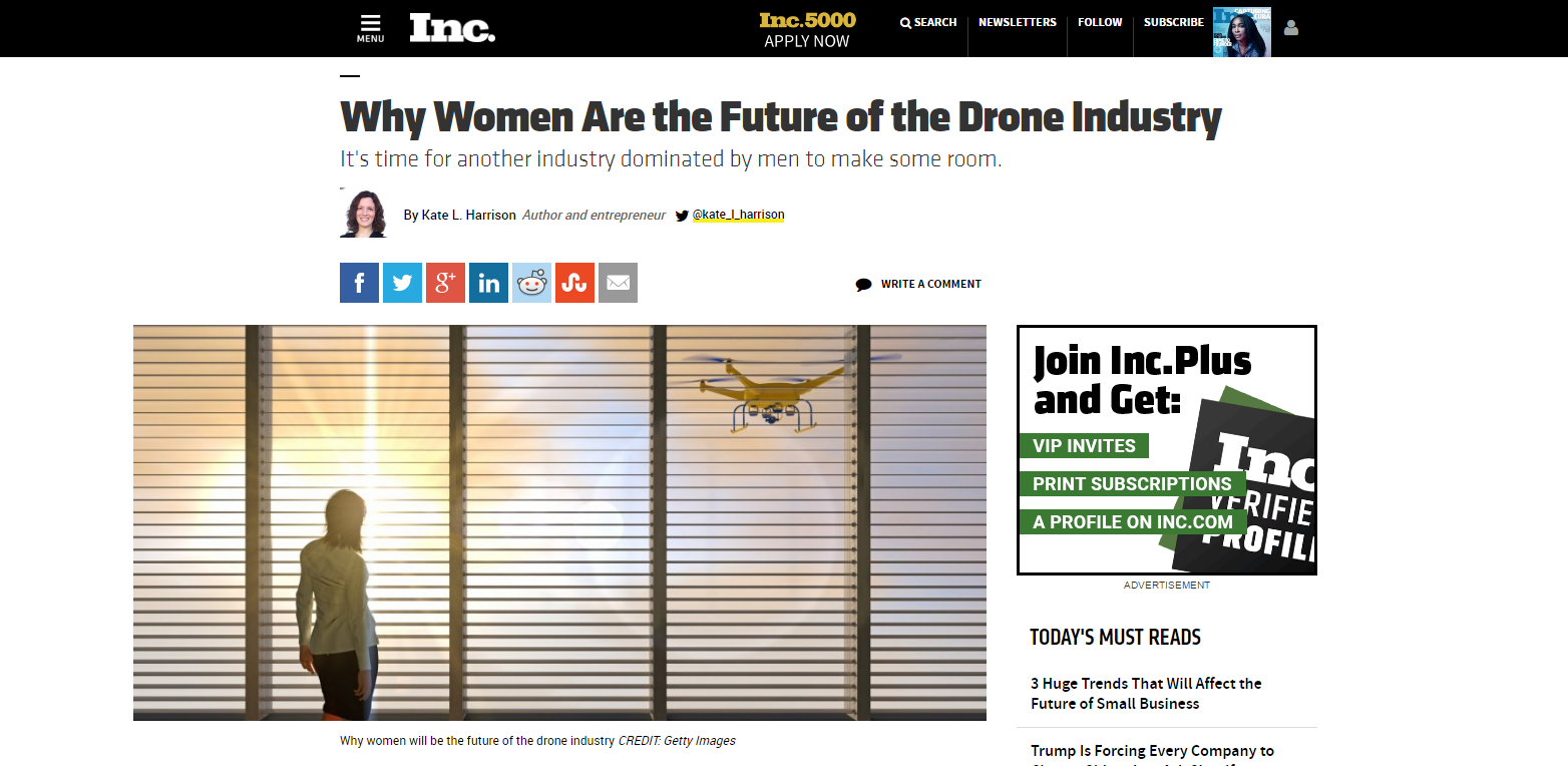 Why women are the future of the drone industry