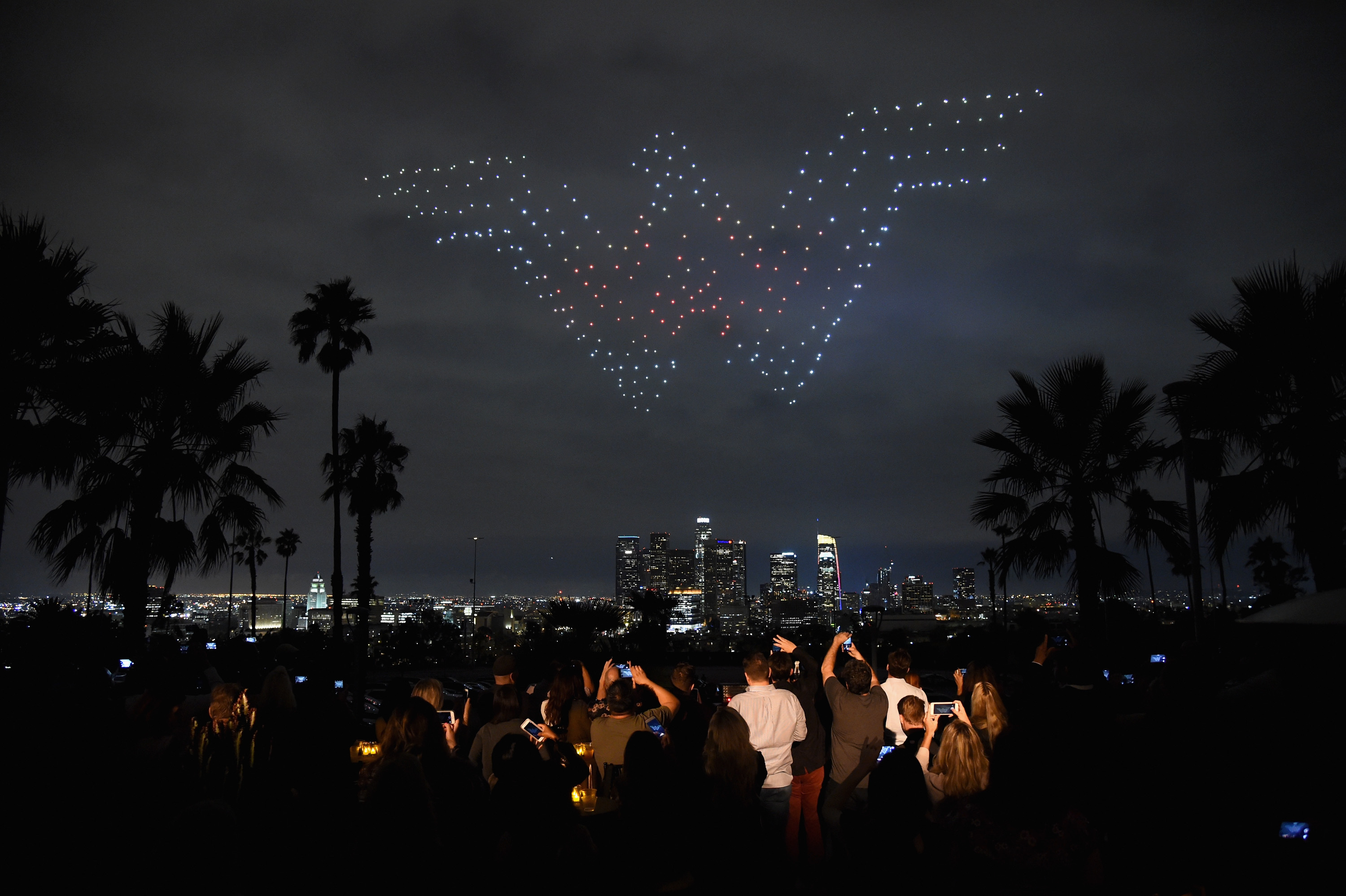 Intel's Wonder Woman drone light show powered by all-female crew