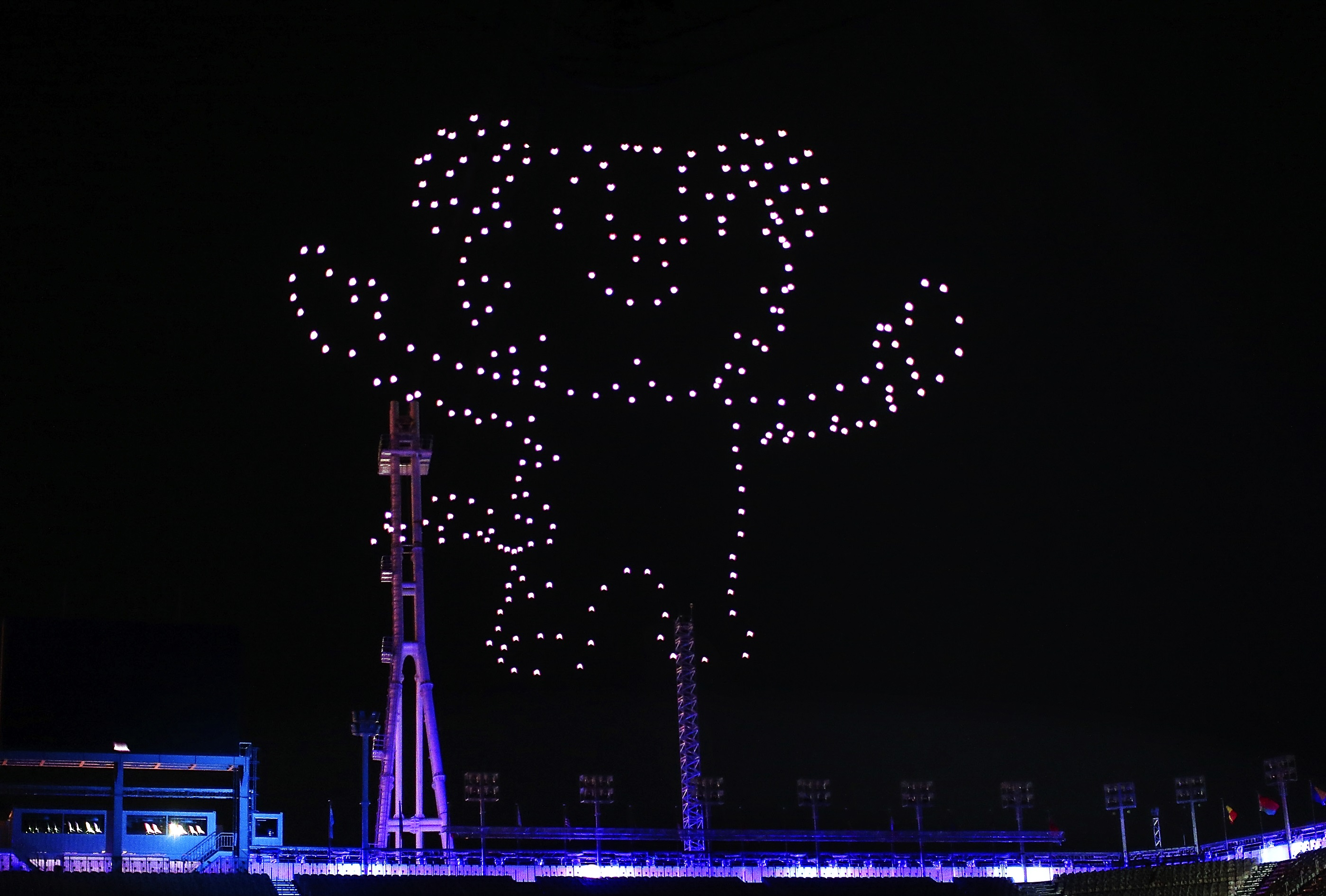 Intel held another drone light show in the Olympics Closing Ceremony