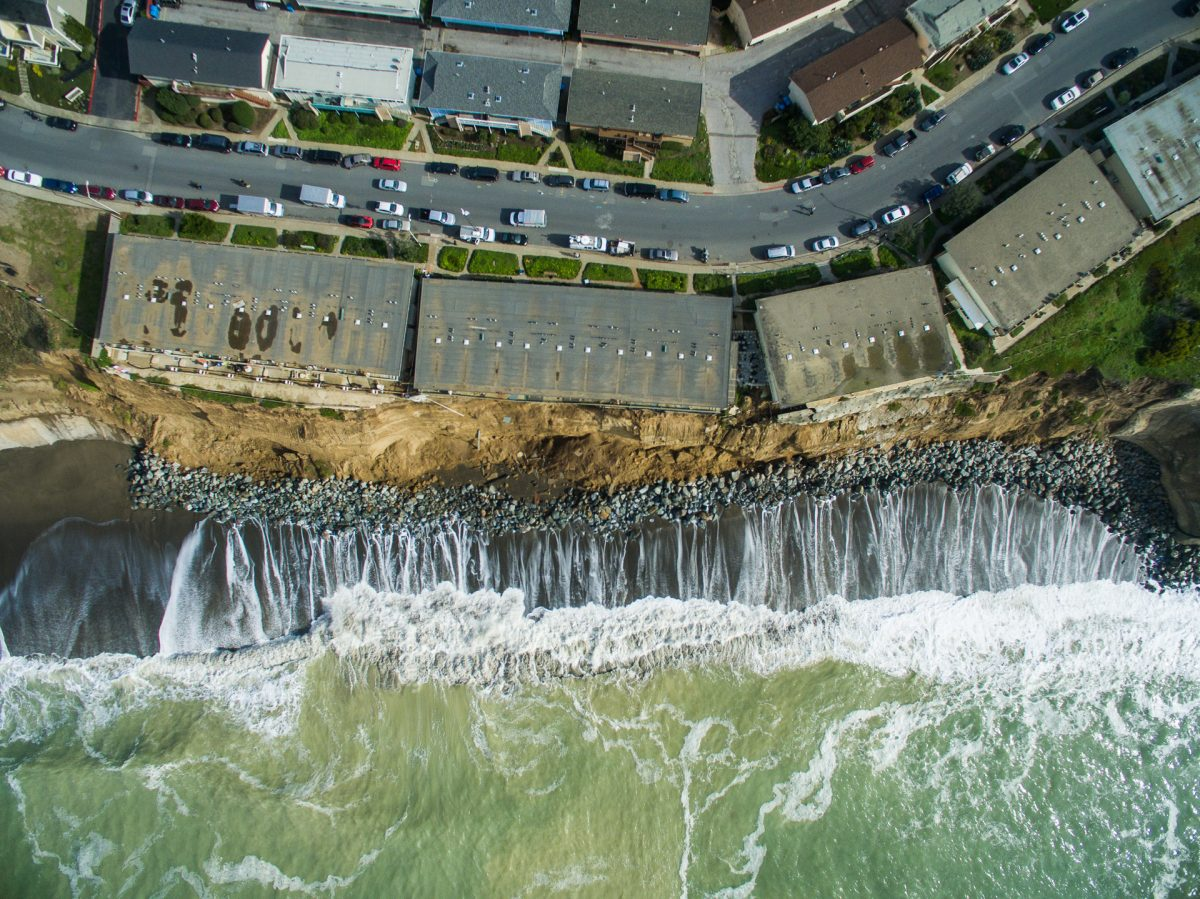 Volunteers are using drones to monitor the impacts of El Nino on California's coastline