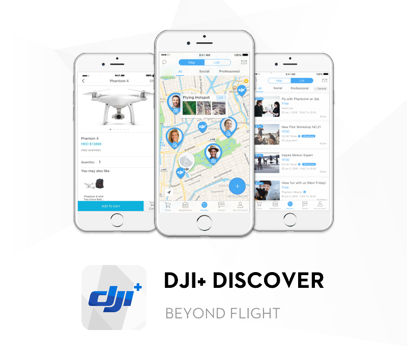 DJI just launched a new app that is basically the Tinder/Uber/Meetup for drones