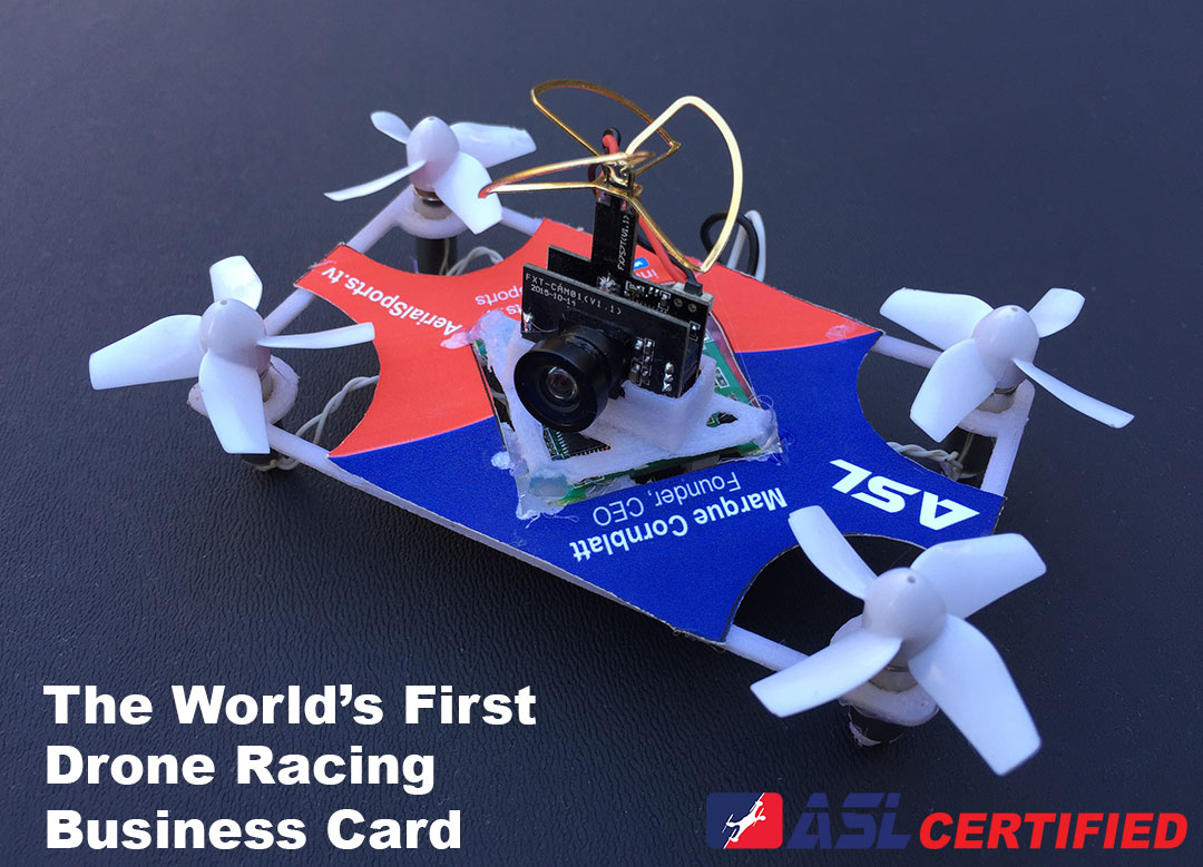 How to make a flying, racing drone business card