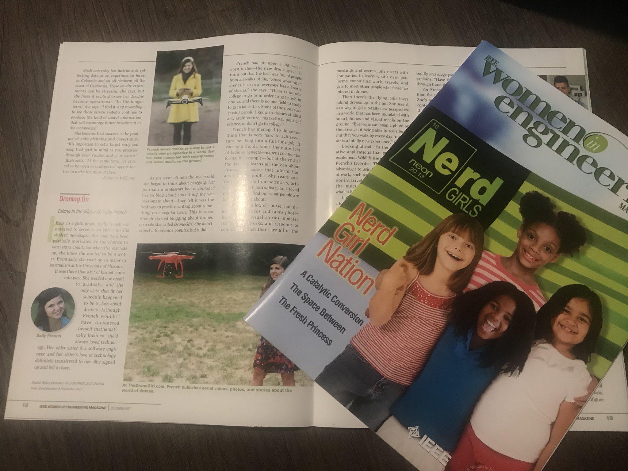 IEEE features The Drone Girl in Women in Engineering magazine
