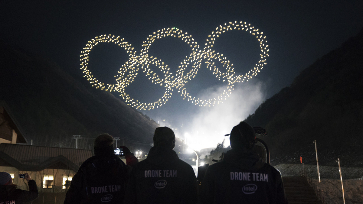 Watch the  record-setting Olympics Intel drone light show