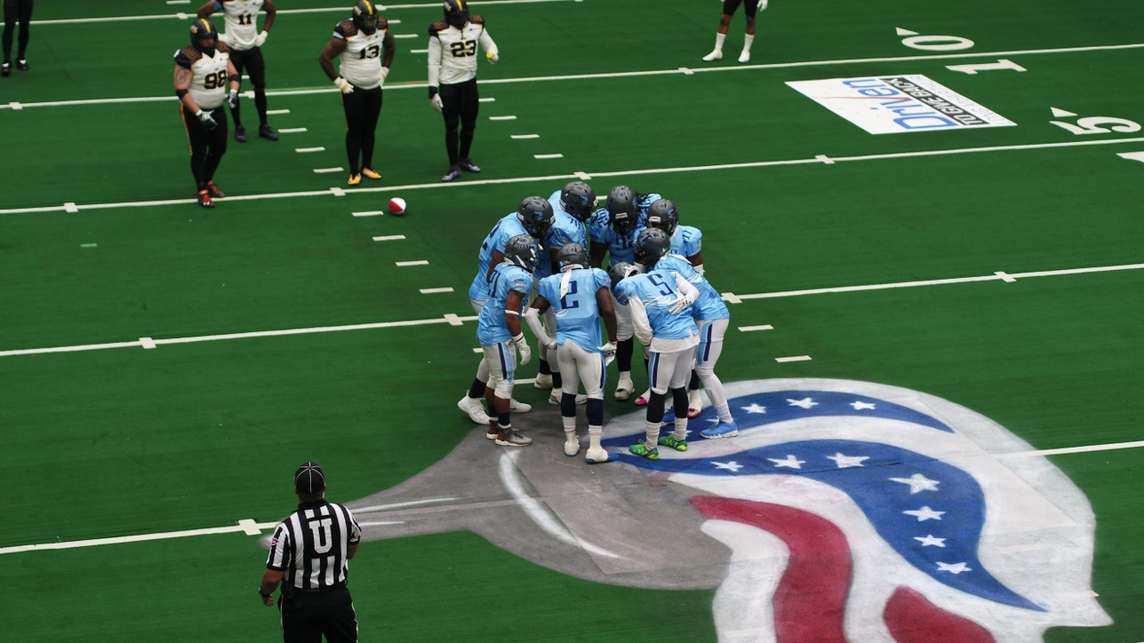 This pro football team is using drones during football games — and the drones are flying indoors, too