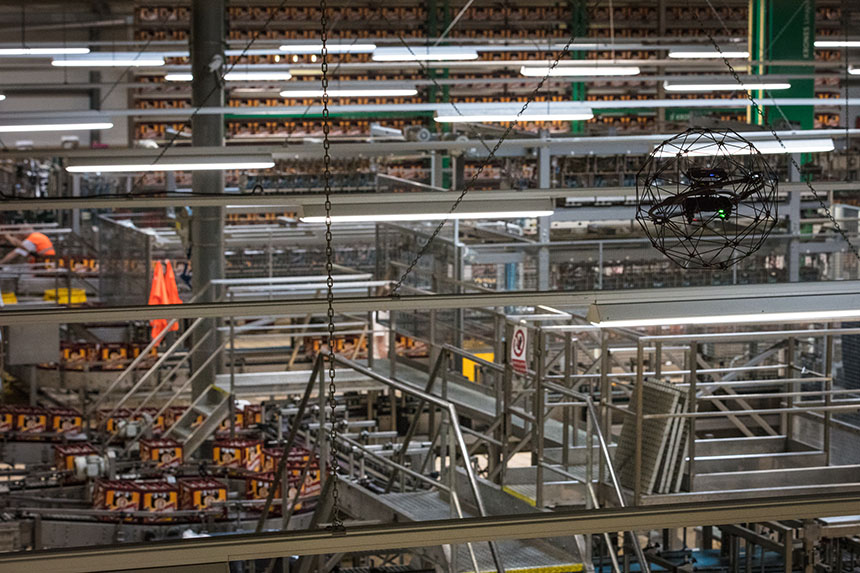 How to inspect a beer factory without shutting it down? Use a drone
